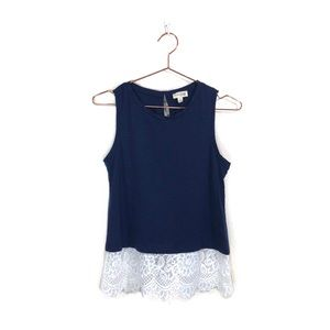 Women's Madison Jules Lace Skirted Sleeveless Top